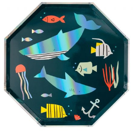 Under The Sea Party Plates, Large - pack of 8